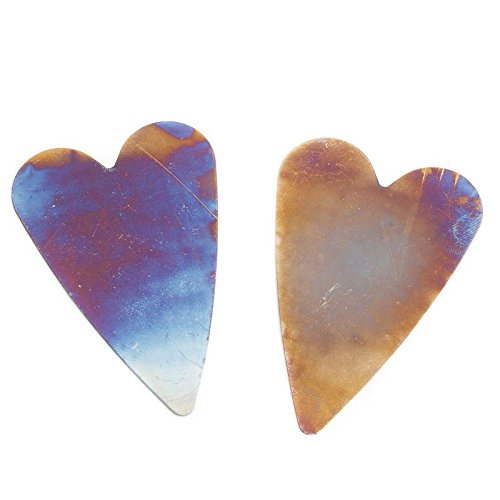 Factory Direct Craft Group of 24 Flat Back Burnished 3 Inch Metal Heart Cutouts for Embellishing Scrapbook Pages, Crafts, and More (Out Cut Metal Back)