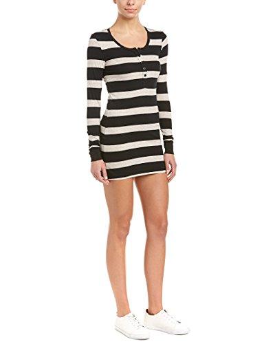 Bobi Womens Dress (Bobi Womens Stripe shirtdress, S)