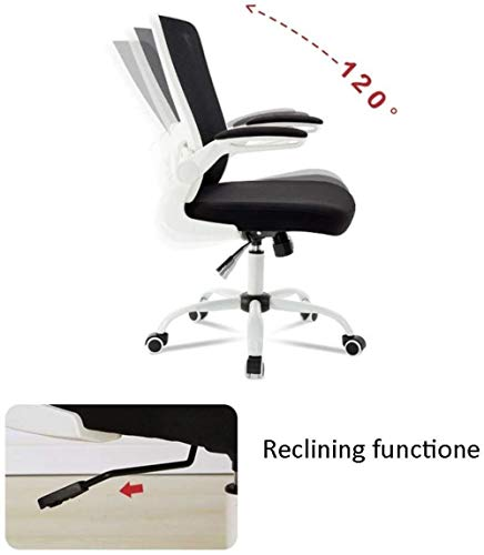 Kontor svängbar stol, mitten av ryggen verkställande dator skrivbord nät stol justerbar höjd armstöd lutningsfunktion konferensarbete studie knästol