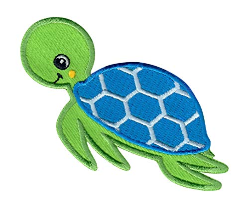 Turtle Kids Pant - PatchMommy Iron On Patch, Sea Turtle - Appliques for Kids Children