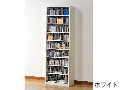 ☆コレクター絶賛☆大容量CDラック/DVDラック ダンデム CD最大1503枚、DVD最大672枚[TCS590W]ホワイト B00DLWWG2O