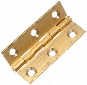 Bisagra (Caja para) cajas latón 50 mm 5,08 cm de escalera con tornillos (3 pares): Amazon.es: Bricolaje y herramientas