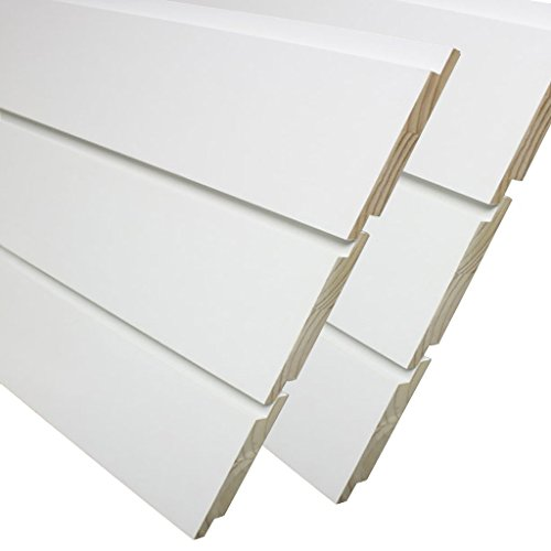3/4 in. x 5-1/2 in. x 8 ft. Primed Pine Nickel Gap Ship Lap Board (6-Pieces Per Box)