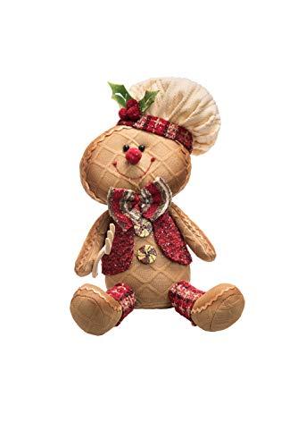 Transpac Imports D0737 Plush Glitter Sitting Gingerbread Decor -