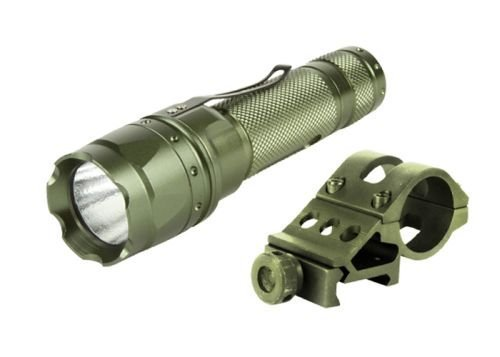 AIM Sports Tactical 180 Lumens CREE LED Flashight w/ Offset Mount OD Green