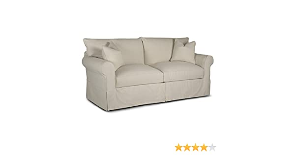 Amazon Com Klaussner Jenny Slipcovered Sofa Natural Home Improvement