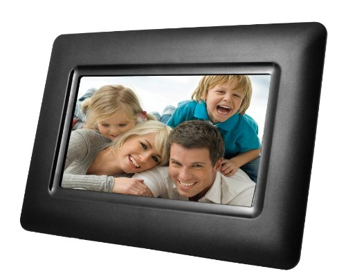 NAXA Electronics NF-501 7-Inch Class LCD Digital Photo Frame with LED Backlight 400 x 240 (Black)