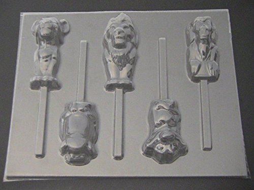 (Lion King Family Chocolate Candy Lollipop Mold)