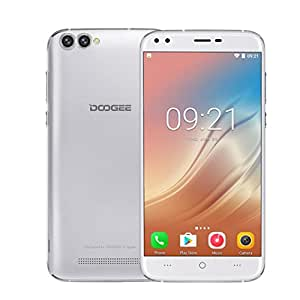 5.5inch HD 3G Smartphone Android 7.0 2G+16G Quad Core Dual SIM 3360mAh for DOOGEE X30 (Silver)