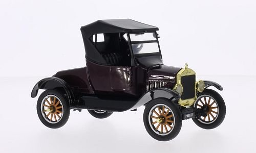 Ford Model T Runabout, metallic dark red / black, 1925, Model Car, Ready-made, Motormax 1:24 -