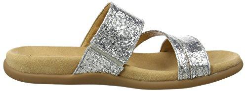 Gabor Shoes 63.703, Chanclas Mujer Plateado (silber 71)