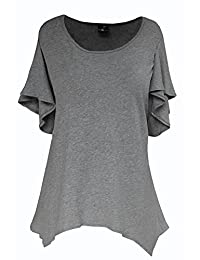 PLUS Size Top | Tunic Top for Plus Size Women, 100% Cotton Jersey, One Size 1-2x