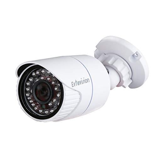 Evtevision Security Ip Camera, 2MP HD 1080P POE(Power Over Ethernet) Ip  Camera, Home Surveillance Bullet Indoor Outdoor Network CCTV Cameras,P2P