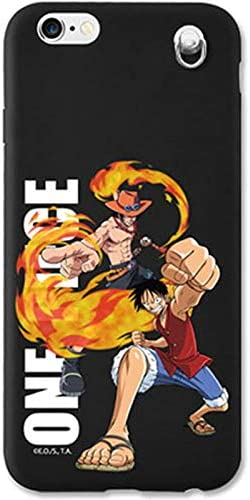 Strap Case with One Piece Character for Apple iPhone 6 Plus/iPhone 6s Plus (Monkey D Luffy & Portgas D Ace)