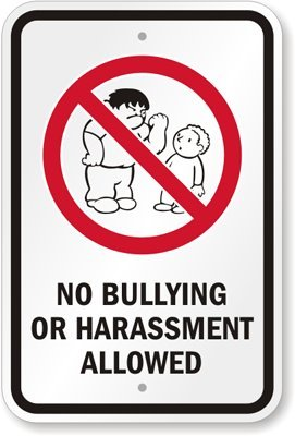 amazon com no bullying or harassment allowed with graphic sign