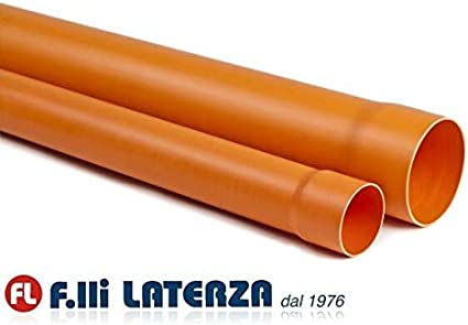 63 mm ACQUA FOGNA TUBO PVC PLASTICA ROSSA ARANCIO 1 METRO DIAM