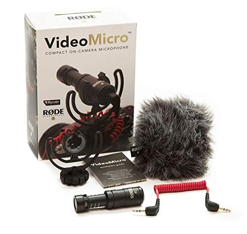 Rode Compact On-Camera Microphone with Rycote Lyre Shock Mount,...
