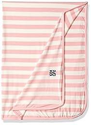 KicKee Pants Baby Essentials Swaddling Blanket Girls, Lotus Stripe, One Size