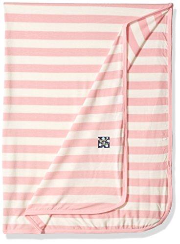 (KicKee Pants Baby Essentials Swaddling Blanket Girls, Lotus Stripe, One Size)