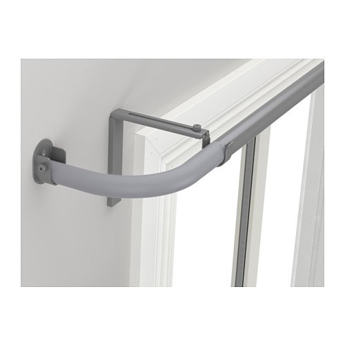 """IKEA"""" HUGAD Wall Fitting For Curtain Rod, Silver Color"""""""" low-cost"""