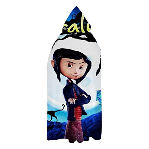 Cora-line Halloween Cloak Unisex Hooded Capes for Christmas Halloween Cosplay Costumes Kids S: 23.5 Inch