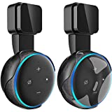 Frienda Outlet Wall Mount Hanger Holder Stand for Dot 3rd Generation Smart Home Voice Assistants, No Messy Wires or Screws-Compact Bracket Case Plug in Bedroom, Kitchen, Bathroom (2 Pack Black)