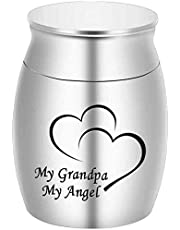 Urns Small Cremation Keepsake Urns for Ashes Mini Cremation Urn Small Funeral Urns -My Dad My Hero My Angel(Hero)