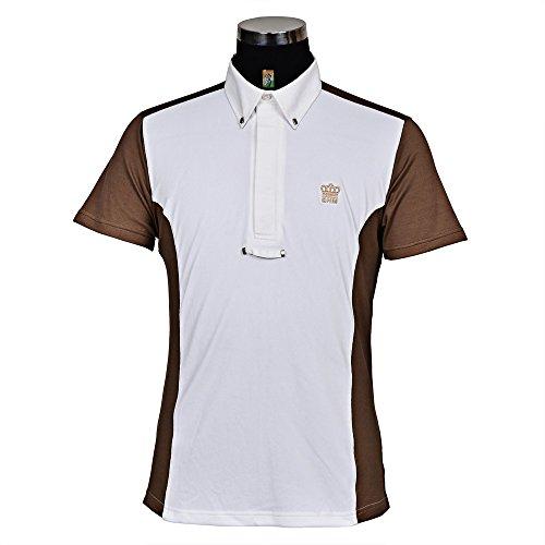 George H Morris GHM Mens Champion Short Sleeve Show Shirt S Carib