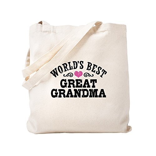 CafePress - World's Best Great Grandma - Natural Canvas Tote Bag, Cloth Shopping Bag