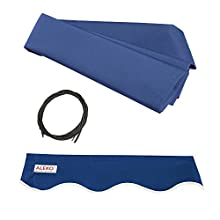 Aleko FAB16X10BLUE30 Fabric Replacement for Retractable Awning, 16' x 10', Blue