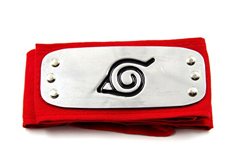 [LYLAS Naruto Konoha Village Ninja Cosplay Headband (red)] (Konoha Shinobi Costume)