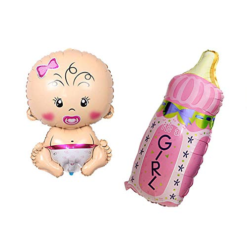 (Huture Welcome Baby Girl Shape Foil Balloon Size(17