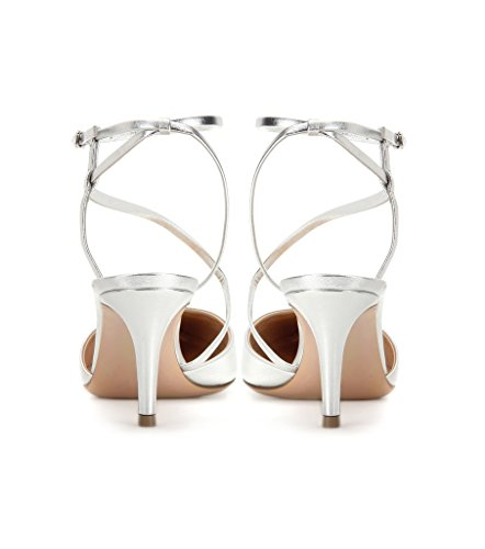 Kolnoo - Zapatos con correa de tobillo Mujer plata