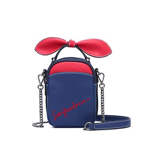 Zipper Bag Pink Handbag Honneury Bandoulière Blue tout Sac Fourre Navy À Lady w4IxqIX0O