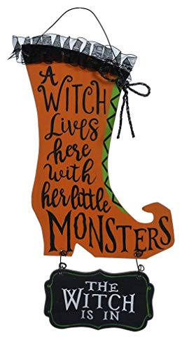 Special T Imports Witch Lives Here with Her Little Monsters Halloween Wall - Wand Magic Pocus Hocus
