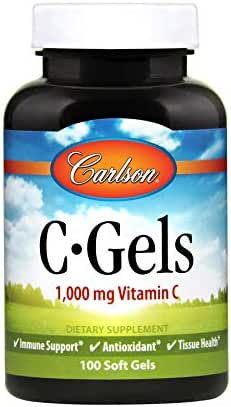 Carlson - C-Gel, 1000 mg Vitamin C, Immune Support & Heart Health, Antioxidant, 100 soft gels