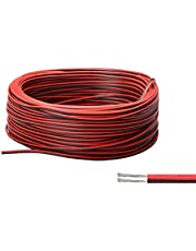 LUSRUCTY Boat Light Extension Cable for Led Strips Single Colour, 100FT/30M 22AWG 2 Pin Flexible Wire 12V/24V DC Cord Led Connector for Kayak Marine Boat Navigation Courtesy Lights