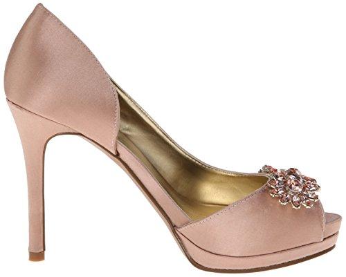 Nine West Frauen Finest Peep Toe Satin D-orsay Pumps Light Pink