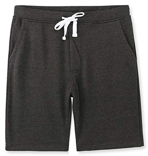 - HETHCODE Men's Casual Classic Fit Cotton Elastic Fleece Jogger Gym Shorts Heather Charcoal XXL