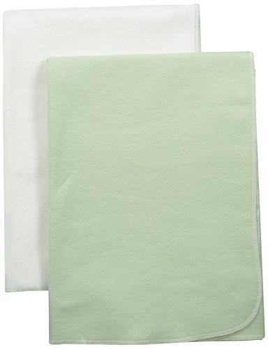 The Nile Cotton Under Blankets - Under The Nile Swaddle Blanket Set, Green/White, Size 34