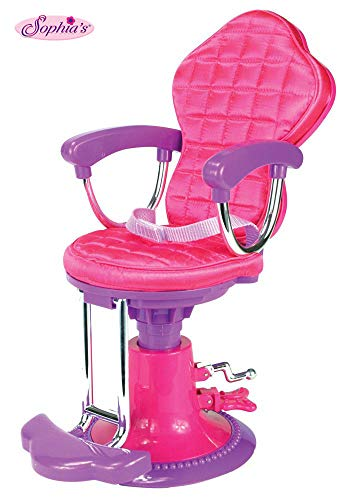 Salon Doll Chair Fit for 18 Inch American Girl Doll | Perfect Salong Chair for Brushing and Styling Doll's Hair