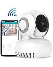 Caméra de surveillance IP 720P sans fil, détection de mouvement, vision nocturne,moniteur pour bébé pivotant à 270 °/120 °,facile à utiliser grâce au contrôle d'application mobile