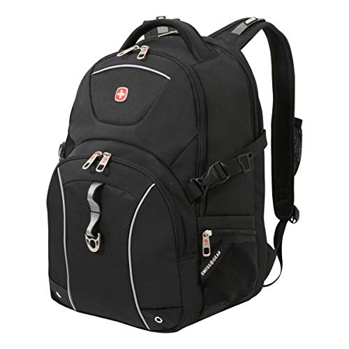 SWISSGEAR Durable 15-inch Laptop Backpack | Secure Computer Sleeve | Travel, Work, School | Men's and Women's - Black