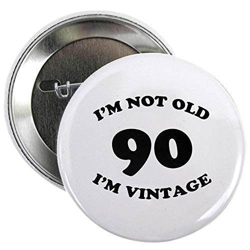 Funny 90th Birthday Button for Men