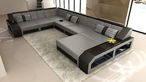 Sofa Dreams Xxl Wohnlandschaft Matera Xxl Grau Schwarz Amazon De