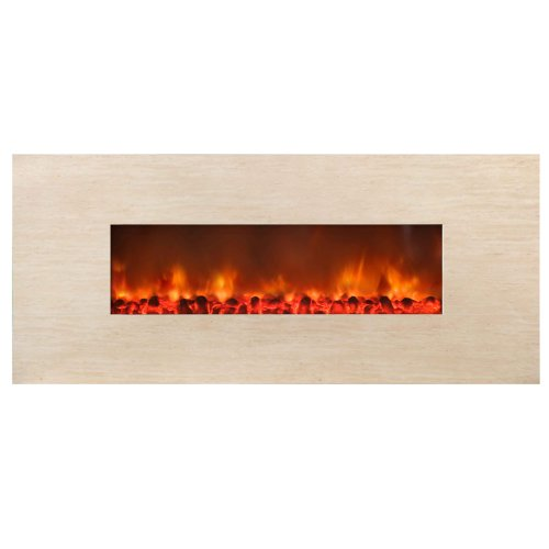 Yosemite Home Decor DF-EFP600 Stone Widescreen Electric Fireplace, Polished Beige