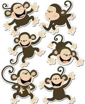 * MONKEYS 6IN DESIGNER CUT OUTS - CTP6431