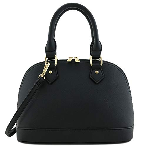 Black Satchel Handbag - 9