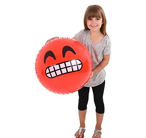 16''EMOTICON KNOBBY BALLS IN ASSORTED COLORS, Case of 1 by DollarItemDirect