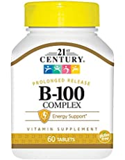 21st Century B 100 Complex Prolonged Release Caplets, 60 Count